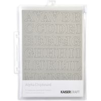 "Chipboard Alphabet #1 8.25""X5.75"" Sheets 3/Pkg NOTM413297"