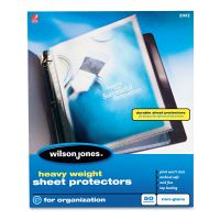 Wilson Jones Top-Loading Sheet Protectors, Letter, Heavyweight, Nonglare, Clear, 50/Box WLJ21412