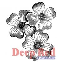 """Deep Red Cling Stamp 2""""X2"""" NOTM064353"""