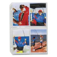 C-Line Clear Photo Pages for 8, 3-1/2 x 5 Photos, 3-Hole Punched, 11-1/4 x 8-1/8 CLI52584