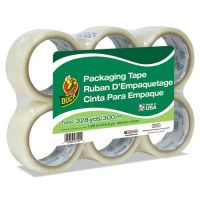 "Duck Commercial Grade Packaging Tape, 2"" x 22, 1.88"" x 55 yds, Clear, 3"" Core, 6/Pack DUC240053"