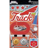 Real Sports Dimensional Cardstock Stickers NOTM082275
