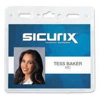 SICURIX Sicurix Vinyl Badge Holder, 4 x 3, Clear, 50/Pack BAU67830