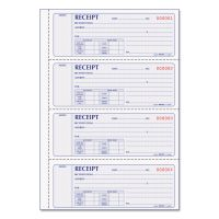 Rediform Money Receipt Book, 7 x 2 3/4, Carbonless Duplicate, 200 Sets/Book RED8L806