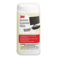 3M Electronic Equipment Cleaning Wipes, 5 1/2 x 6 3/4, White, 80/Canister MMMCL610