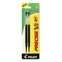 Pilot Refill for Precise V5 RT Rolling Ball, Extra Fine, Black Ink, 2/Pack PIL77273