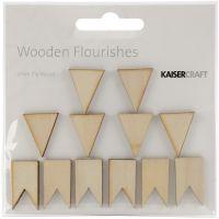 Wood Flourishes 12/Pkg NOTM257867