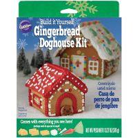 Unassembled Gingerbread Dog House Kit NOTM205426