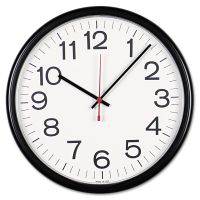 "Universal Indoor/Outdoor Clock, 13 1/2"", Black UNV11381"