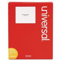 Universal Laser Printer Permanent Labels, 3 1/3 x 4, White, 600/Box UNV80108