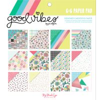 """My Mind's Eye Double-Sided Paper Pad 6""""X6"""" 24/Pkg NOTM361387"""