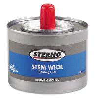 Sterno Chafing Fuel Can With Stem Wick, Methanol,1.89g, Six-Hour Burn, 24/Carton STE10102