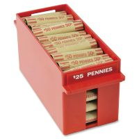 MMF Industries Porta-Count System Extra-Capacity Rolled Coin Plastic Storage Tray, Red MMF212070107
