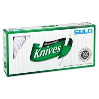 SOLO Cup Company Heavyweight Plastic Cutlery, Knives, White, 7 in, 500/Carton SCC827271