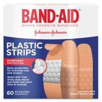 BAND-AID Plastic Adhesive Bandages, 3/4 x 3, 60/Box JOJ100563500