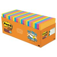 Post-it Notes Super Sticky Pads in Rio de Janeiro Colors, 3 x 3, 70-Sheet, 24/Pack MMM65424SSAUCP