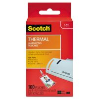 Scotch ID Badge Size Thermal Laminating Pouches, 5 mil, 4 1/4 x 2 1/5, 100/Pack MMMTP5852100