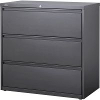 """Lorell Hanging File 3 Drawer Lateral File Cabinet, Letter/Legal/A4, 42"""" Wide, Charcoal LLR60405"""