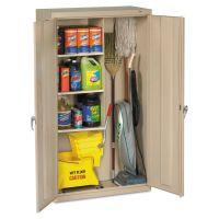 Tennsco Janitorial Cabinet, 36w x 18d x 64h, Putty TNNJAN6618DHPY