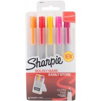 Sharpie Permanent Markers W/Hardcase 5/Pkg NOTM417644