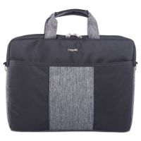 Slim Computer Briefcase, 15.5 x 1.75 x 11.5, Black/Gray BUGEXB529