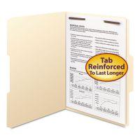 Smead Folders, One Fastener, 1/3 Cut Assorted, Top Tab, Letter, Manila, 50/Box SMD14534