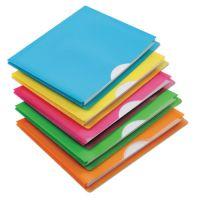 Pendaflex Glow Poly File Jacket, Letter, Polypropylene, Assorted, 5/Pack PFX50992