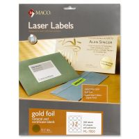 Maco Round Gold Foil Labels MACML7850