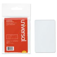 Universal Clear Laminating Pouches, 5 mil, 2 1/8 x 3 3/8, Business Card Style, 25/Pack UNV84650
