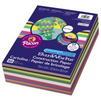 SunWorks Construction Paper Smart-Stack, 58 lbs., 9 x 12, Assorted, 300 Sheets/Pack PAC6525