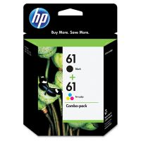 HP 61, (CR259FN) 2-pack Black/Tri-Color Original Ink Cartridges HEWCR259FN
