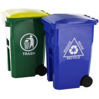Curbside Mini Trash Can & Recycle Can Pencil Cup Set NOTM499262