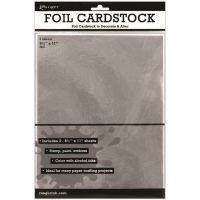 Ranger Surfaces Silver Foil Cardstock 3/Pkg NOTM250163