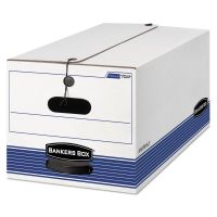 Bankers Box STOR/FILE Storage Box, Letter, String and Button, White, 4/Carton FEL0070403