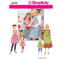 SIMPLICITY CHILD'S AND MISSES APRONS NOTM495940