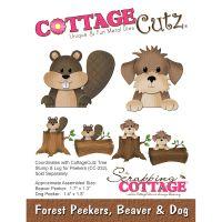 CottageCutz Forest Peekers Beaver & Dog Die NOTM246122