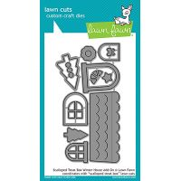 Lawn Cuts Scalloped Treat Box Winter House Custom Craft Add On Dies NOTM086565