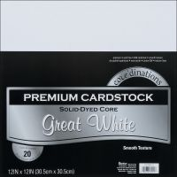 Core'dinations Premium Smooth Great White Cardstock   NOTM239463