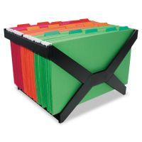 Advantus Letter/Legal Hanging File Rack, Plastic, 16 x 12 x 10 3/4, Black AVT63000