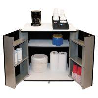 Vertiflex Refreshment Stand, Two-Shelf, 29 1/2w x 21d x 33h, Black/White VRT35157