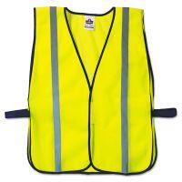 ergodyne GloWear 8020HL Safety Vest, Polyester Mesh, Hook Closure, Lime, One Size Fit All EGO20040