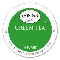 TWININGS Tea K-Cups, Green Tea, 0.11 oz K-Cups, 24/Box TWG08759