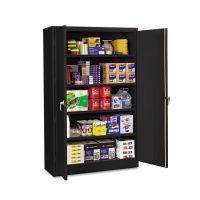 Tennsco Assembled Jumbo Steel Storage Cabinet, 48w x 24d x 78h, Black TNNJ2478SUBK