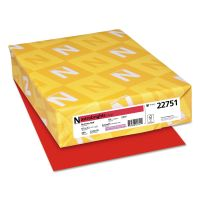 Astrobrights Color Cardstock, 65lb, 8 1/2 x 11, Re-Entry Red, 250 Sheets WAU22751