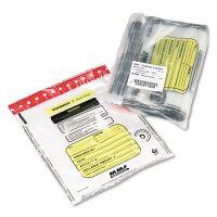 MMF Industries Tamper-Evident Deposit/Cash Bags, Plastic, 12 x 16, Clear, 100 Bags/Box MMF2362011N20