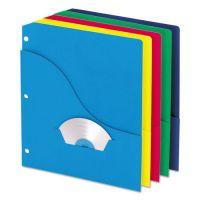 Pendaflex Pocket Project Folders, 3 Holes, Letter, Five Colors, 10/Pack PFX32900