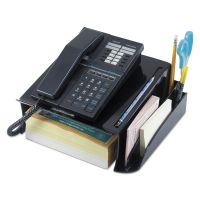 Universal Telephone Stand and Message Center, 12 1/4 x 10 1/2 x 5 1/4, Black UNV08116