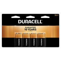 Duracell CopperTop Alkaline Batteries, 9V, 4/PK DURMN16RT4Z
