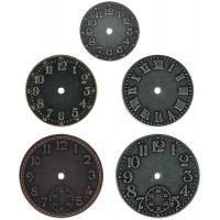 """Idea-Ology Timepieces Clock Faces 1.25"""" To 1.75"""" 5/Pkg NOTM429743"""