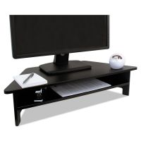 Victor High Rise Collection Monitor Stand, 27 x 11 1/2 x 6 1/2-7 1/2, Black VCTDC050